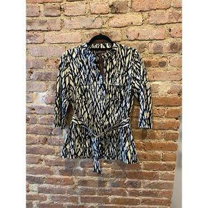 Dana Buchman Animal Print Cotton Blouse